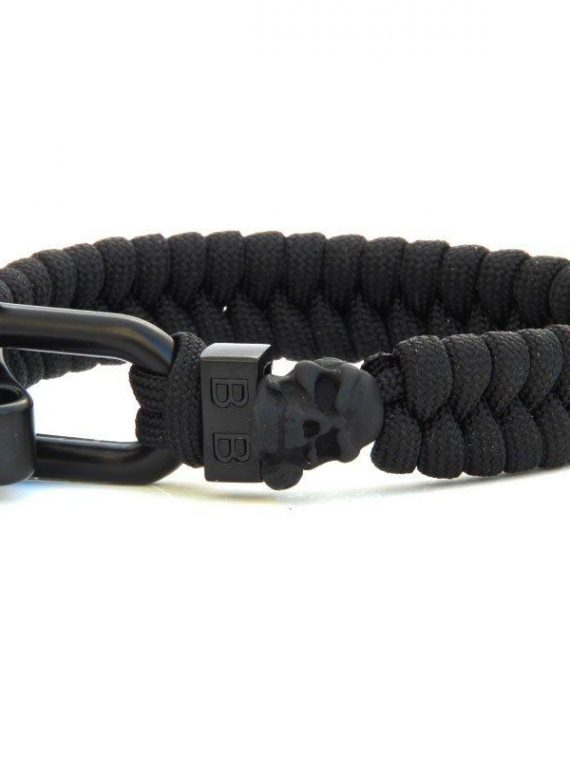 STEEL & CORD | BLACK ROSE heren armband 10Happy