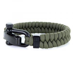 STEEL & CORD | ESSENTIAL ARMY GREEN heren armband 10Happy