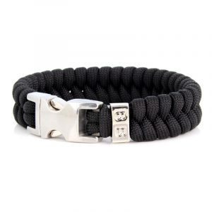 STEEL & CORD | ESSENTIAL BLACK & SILVER heren armband 10Happy