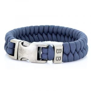 STEEL & CORD | ESSENTIAL NAVY heren armband 10Happy