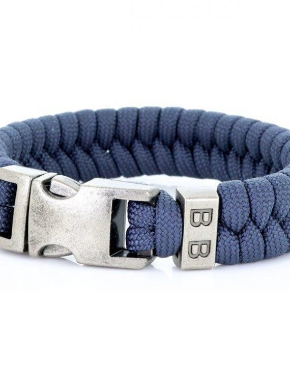 STEEL & CORD | ESSENTIAL NAVY heren armband 10Happy