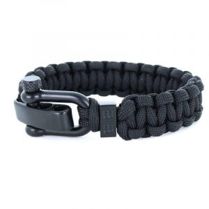 STEEL & CORD | TRADITIONAL BLACK heren armband 10Happy