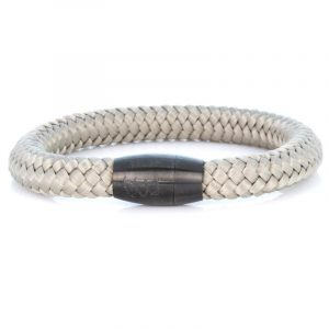 STEEL & ROPE | FISHERMAN SAND heren armband 10Happy