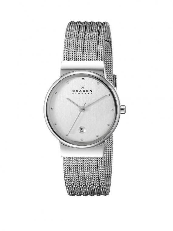 Skagen 355SSS1 Slimline dames horloge 10Happy