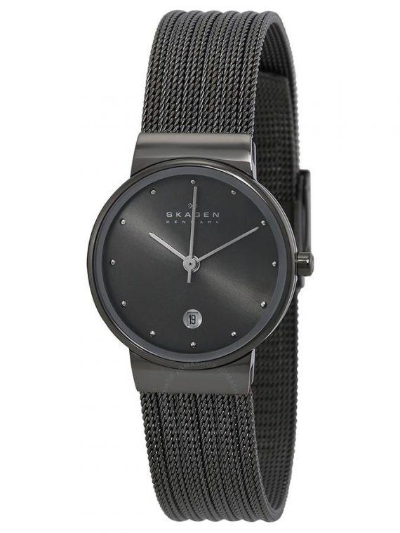 Skagen 355SMM1 Anchor Black Slimline dames horloge 10Happy