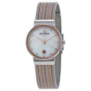 Skagen 355SSRS Ancher dames horloge zilver 10Happy