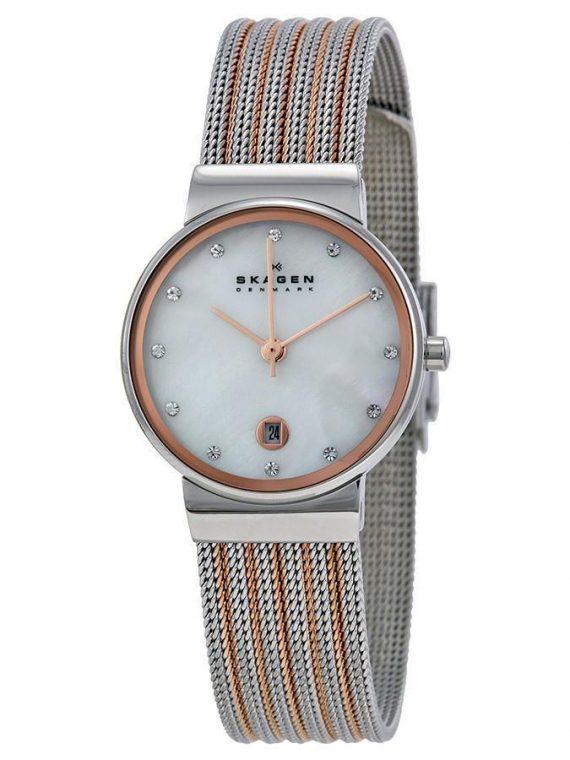 Skagen 355SSRS Ancher dames horloge 10Happy