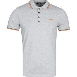 Diesel T-Randy Broken Logo Polo shirt grijs 10Happy