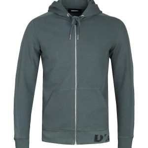 Diesel S-Gina Felpa Forest Green Zip-Up Hoodie 10Happy