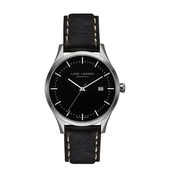 Lars Larsen Alex Retro & Vintage 119 Zwart heren horloge 10Happy
